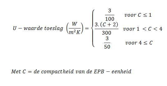 Warmteverlies formule