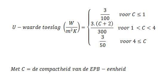 Warmteverlies formule